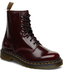 vegan 1460 cherry red oxford rub off shoes boots ankle boots ankle boot - flat brun dr. martens