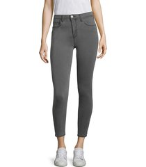 l'agence women's margot high-rise ankle skinny jeans - coal - size 30 (8-10)
