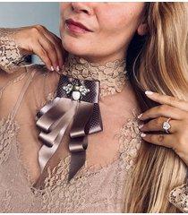 brosza/ krawat z owadem glamour