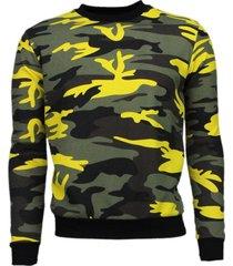 kariqu kleur leger print sweater