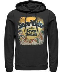 disney men's snow white dwarfs vintage inspired cover pullover, fleece