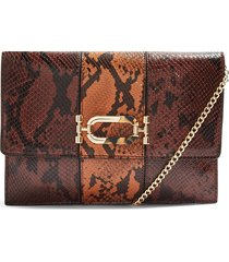 topshop snake embossed convertible faux leather clutch -