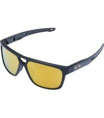 óculos de sol oakley crossrange patch iridium - unissex - preto