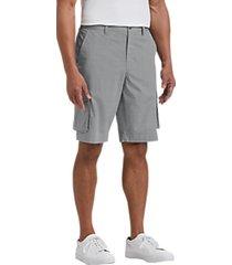 joseph abboud gray plaid modern fit cargo shorts