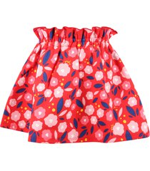 sonia rykiel red skirt for girl with flowers