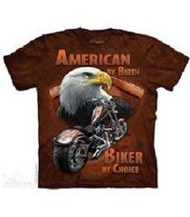 adult motorcycle eagle, biker by choice t-shirts, 100% cotton screen printed tee