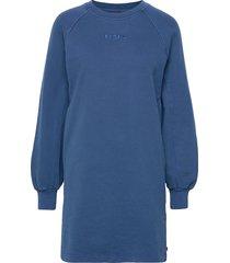 frannie sweatshirt dress navy kort klänning blå levi´s women