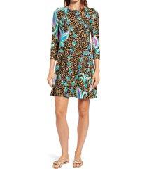 women's lilly pulitzer ophelia swing dress, size xx-small - black