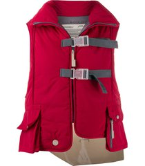 a-cold-wall* step front padded vest - red