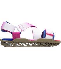 camper lab bernhard willhelm, sandali donna, rosa/bianco/blu, misura 41 (eu), k201072-001