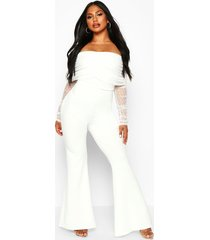 dobby mesh rouched jumpsuit, white