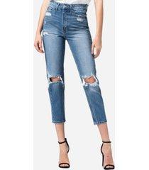 vervet super high rise distressed mom jeans