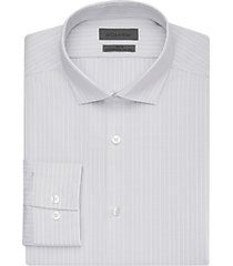 calvin klein grey stripe slim fit dress shirt