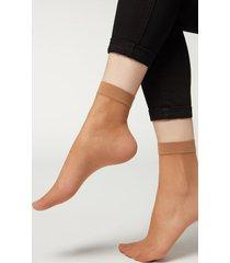 calzedonia 20 denier sheer socks woman nude size tu