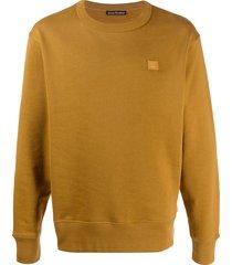 acne studios classic fit sweatshirt - brown