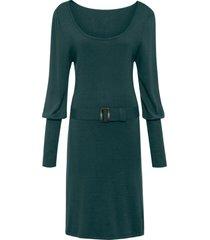 abito in maglia con cintura e maniche a palloncino (petrolio) - bodyflirt