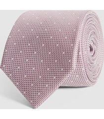 reiss liam - silk polka dot tie in pink, mens