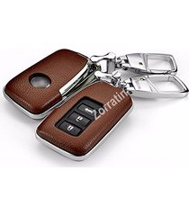 luxury real leather key cover case for lexus es250 is250 gs350 gs450h(1 set cons