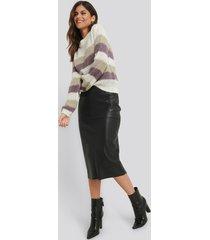 na-kd trend midi pu skirt - black
