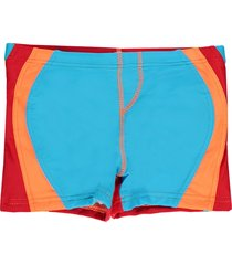 zee & zo zee&zo rood/oranje/turquoise zwembroek lolo lolo baia blauw