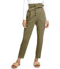 a.l.c. women's krew high-waisted tie-waist pants - oregano - size 10