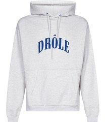drôle de monsieur embroidered logo cotton hoodie