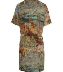 jurk met korte mouwen van peter hahn multicolour
