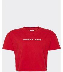 polera logo detail rojo tommy jeans