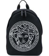 young versace medusa head motif backpack - black