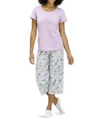 hue live a life filled with love capri pajama set