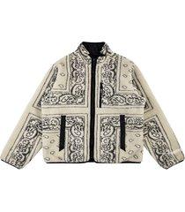 supreme reversible bandana fleece jacket - neutrals