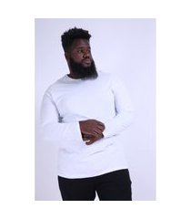 camiseta manga longa plus size branco camiseta manga longa plus size branco p kaue plus size