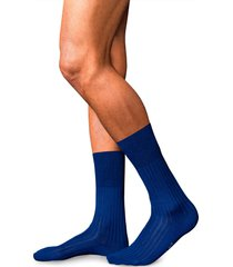 falke no. 13 egyptian cotton blend dress socks, size medium in royal blue at nordstrom