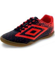 chuteira unissex footwear acid umbro - of2097 azul/laranja 38