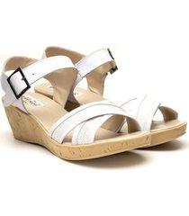 sandalia blanca valentía calzados
