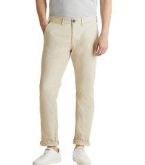 pantalón en sarga de algodón elástico beige esprit
