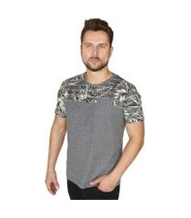 camiseta suffix recorte floral masculina