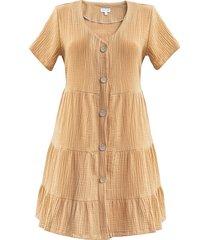sukienka mini loose dress n2 muslin camel