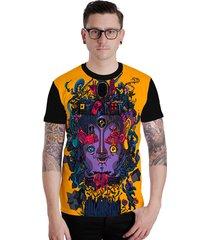 camiseta lucinoze camisetas manga curta crazy watch preta