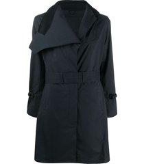 norwegian rain belted trench coat - black