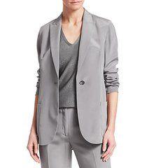 amandine silk crepe blazer jacket