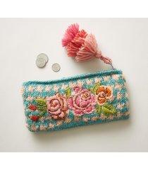 sunlit blossoms pouch