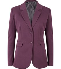 blazer sciancrato in jersey di cotone (viola) - bpc bonprix collection