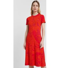 eco dress with floral print - red - xl