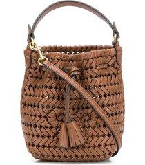 anya hindmarch neeson mini drawstring bag - brown