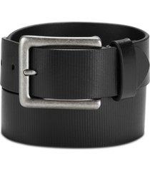 calvin klein jeans men's textured leather belt
