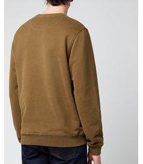 belstaff men's patch logo sweatshirt - salvia - xxl