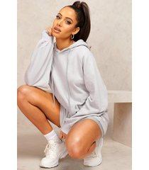 mix and match edition longline hoodie, grey