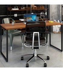 mesa para escritório kuadra nogal 138 - compace