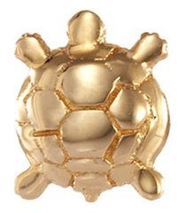 'turtle' 18k yellow gold charm - wisdom